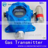 High precision wireless ammonia gas detector and alarm to detect NH3,CO2,O2 NH3 = 0-100 ppm