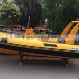 China manufacturer made new 17ft RIB rigid hypalon inflatable sport fishing boats for sale with Japan outboard engine motor