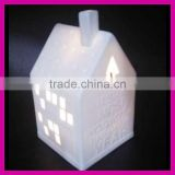 wholesale ceramic Christmas house with LED light for party