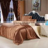 Imitation silk satin luury bedding set silver satin set full king size bed sheet set summer bedclothes duvet cover pillowcases.