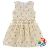 Hot Sell Children Flower Pattern Designs Baby Girl Sleeveless Party Dress Frock Design For Girls