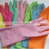 CE cheap red,pink,yellow,black,blue,green,oringe Latex House Hold household Gloves