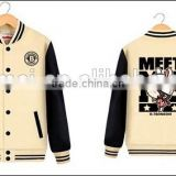 100% Polyester wholesale customized man woman baseball jacket