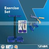 EXERCISE SET;FAMILY EXERCISE SET;PULL EXERCISER;PLASTICS HAND GRIP;WOODEN HANDLE JUMPING ROPE