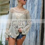 Long Sleeved Blouse Openwork Hook Beach Sunscreen Shirt