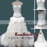 EB967 Attractive Soft tulle layer Wedding dress fishtail semi catherdral bridesmaid dress
