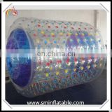 Durable pvc inflatable water roller, inflatable water tube for water games, walking water bubble ball for outdoor entertainment