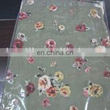 Pure ladies' floral wool scarf