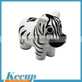 Promotional Zebra stress ball with logo printed