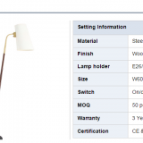 Floor standing lamp for hotel with UL/CE/SAA certification gooseneck decorative floor lamps with marble base