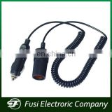 DC12V 3A Car cigarette lighter DC connector power cord 1.5m cable for Solar system and Auto