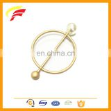 New fashion metal round shape ornament with pearl for knitwear decoration