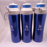 double lid stainless steel vacuum bottle with filter and rope lift