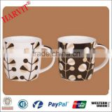 Round Decorative Coffee Mug Ceramic