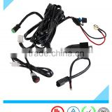Single Channel DT Connector Auto LED Light Bar Wiring Harness with Switch and Relay