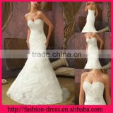 Excellent Sweetheart Neckline Strapless with Beads Bodice and Bow Wedding Dresses Organza Ruffles Skirt