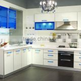 Modern modular kitchen designs light color kitchen cabinet combination made in china                                                                         Quality Choice