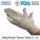 FAWICL examination medical powder-free&powdered natural disposable latex gloves