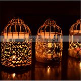 wholesale wedding decoration European style metal bird cage candle holder                                                                         Quality Choice