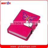 Promotional wholesale leather diary with lock and key