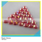 Iron On Flatback Loose Round Resin Stone For Motif Transfer ss10 AB Rose Rhinestone Epoxy Stone