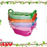 easter basket wholesale,1 pc split willow baskets with TC liner,handicraft basket, arts &craft
