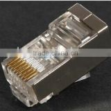 Good performance keystone jack cat6/cat6 connector/shield rj45 plug/
