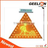 Traffic LED Solar Flashing Arrow Board Signs Road Working Ahead