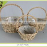 2014 new with handle handmade willow basket