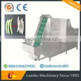 Leader green banana peeling slicing machine Whatsapp:+8618336073732