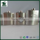 2016 Morrison Audited Hot Sale Premium 304 (18/8) Stainless Steel Liquor Hip Flask with Screw Cup