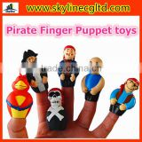 OEM PVC material Pirate Finger Figure toys