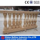 Yellow marble balustrade,Outdoor balustrade,Balustrade and handrail set