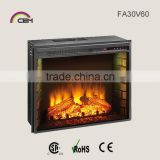 30IN Luxury Decorative Electric Fireplace Insert With Side Brick