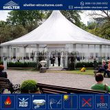 Hot selling waterproof, flame redartant, UV-resistant multi side octagonal canopy beautiful wedding tent outdoor awning tent