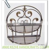 LC-76162 Antique Metal 2 Tier Half Round Wall Hanging Basket