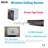 passenger elevator lift systems K-2000+K-L for construction site elevator touch button for lift call button