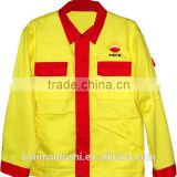 2015 Wholesale Petroleum Oil Field Work Jacket Quality Customed Light Yellow Working Jacket