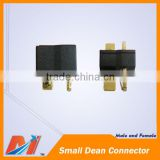 Maytech small T plug connector Dean style male and female in pair