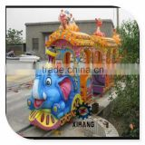 Beautiful!! Fairground Equipments Elephant Track Train Rides Kiddie Ride Amusement Park Games