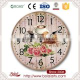 Antique european high-grade household decoration free time gif wall clock for supermarket