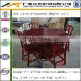 Cheap wooden round dining table sets,restaurant round table chair set kitchen furniture