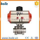 High platform threaded pneumatic positioner ball valve