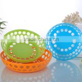 High quality round shaped food grade PS plastic fruit basket