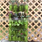 Hanging Garden Strawberry Planter Bags, Garden Grow Planting Bag Pockets Vertical Garden Felt Planters Grow Bags
