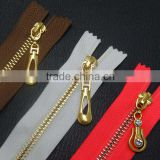 3# 5# 7# China custom garment accessory double sided zipper metal zipper
