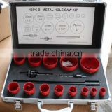 16 Pcs Bi-metal hole saw kit