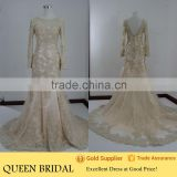 Real Works Long Sleeve Mermaid Bling Wedding Dresses in Dubai                                                                         Quality Choice
