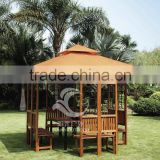 high quality outdoor furniture cherry wood gazebo wooden house with waterproof fabric