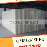 hot sale colorbone steel shed outdoor storage house outside garden cabin                                                                         Quality Choice